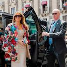It doesn't come cheap: The $51,500 Dolce & Gabbana coat covered in silk flowers Melania wore to the G7 summit in Sicily cost more than the annual average US household's income