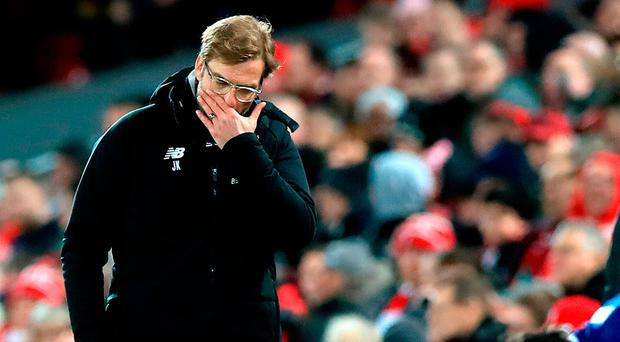 Liverpool manager Jurgen Klopp during the Cup defeat to West Brom