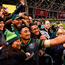 Bundee Aki of Ireland takes a selfie with his daughter Adrianna, age 6, after South Africa match last year