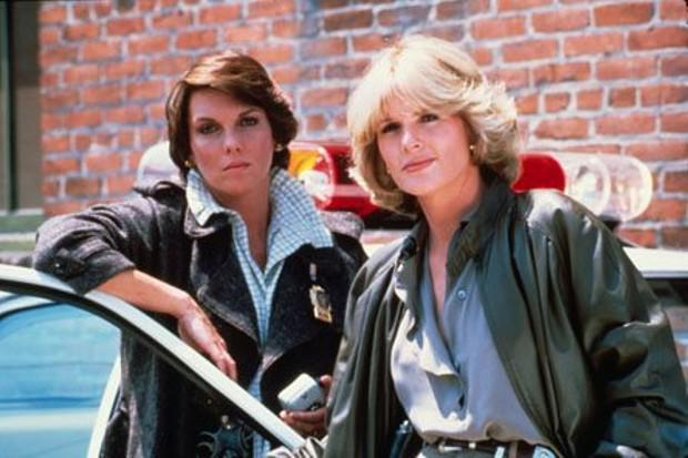 Tyne Daly and Sharon Gless in Cagney & Lacey