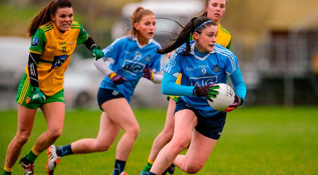 Olwen Carey of Dublin during the Lidl Ladies Football National League Division 1 Round 1 match between Donegal and Dublin