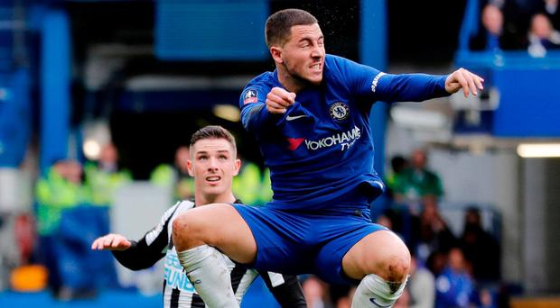 Chelsea's Eden Hazard in action