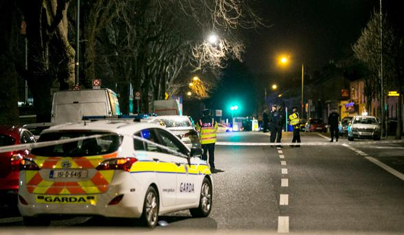 Scene of the shooting outside the National Boxing Arena on the South Circular Road