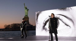 U2 perform Get Out Of Your Own Way at the Grammys. PIC: U2/Twitter