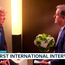 Video grab taken from ITV of US President Donald Trump (left) being interviewed by ITV's Good Morning Britain presenter Piers Morgan. Photo: ITV