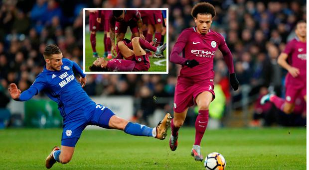 How Guardiola Reacted After Horror Tackle On Leroy Sane