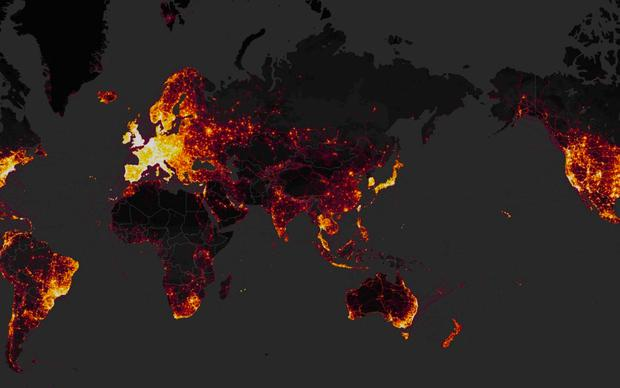 Strava Labs heat map reveals the locations of millions of users - including those on military bases