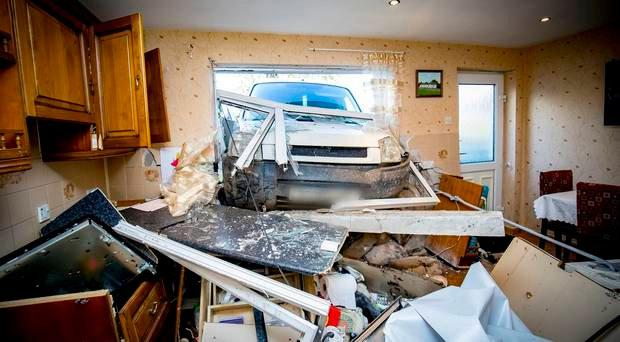 A woman was left in shock after a van crashed into her home (Photo by Kevin Scott / Belfast Telegraph)