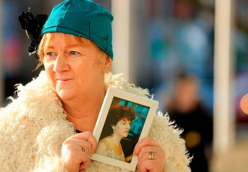 Anne Delcassian, sister of Irene White, pictured outside the court. Picture; Gerry Mooney