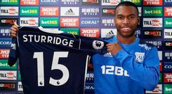 Daniel Sturridge makes the move to West Bromwich Albion
