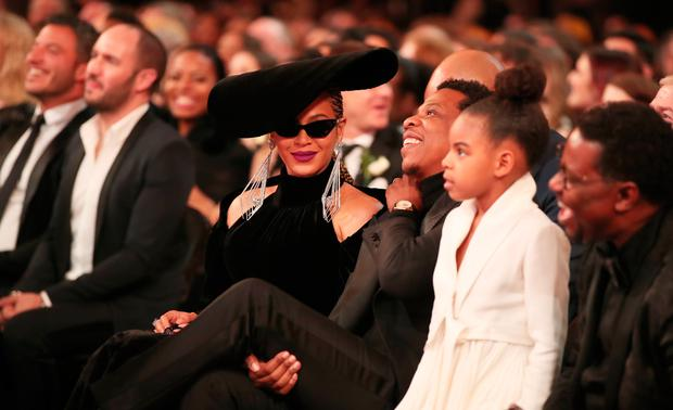 Beyonce with Jay Z and daughter Blue Ivy. Photo: Getty Images