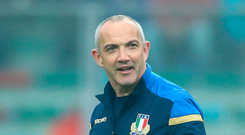 Italy coach Conor O'Shea believes the team are making progress Photo: Getty
