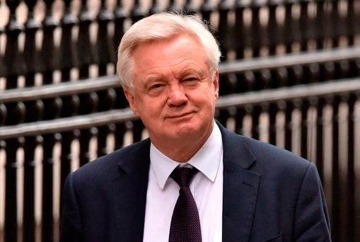 """David Davis told the House of Lords EU Committee that the easiest way to have an """"invisible"""" border is to have a comprehensive free trade agreement between the EU and UK, Photo: PA"""