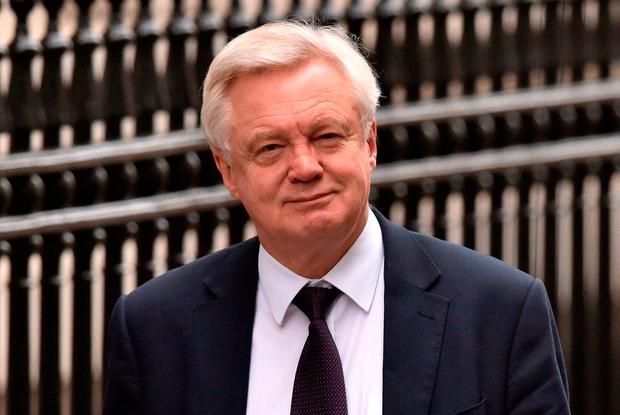 "David Davis told the House of Lords EU Committee that the easiest way to have an ""invisible"" border is to have a comprehensive free trade agreement between the EU and UK, Photo: PA"