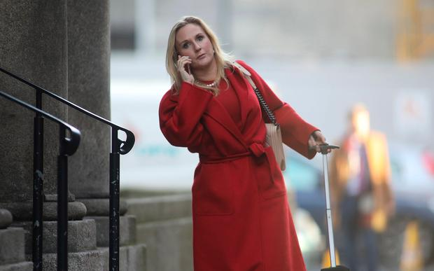 Gayle Dunne arrives at the Four Courts for a Court of Appeal . Picture: Collins