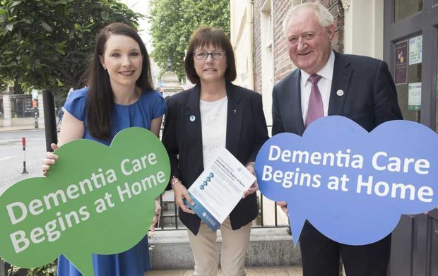 Left to right: Laura Reid from the Dementia Carers Campaign Network; Kathy Ryan from the Irish Dementia Working Group; and The Alzheimer Society of Ireland CEO Pat McLoughlin.