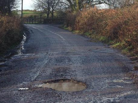 Pothole in east Cork