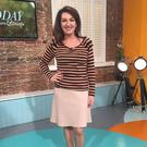 Maura Derrane wearing Marc Cain top and skirt and LK Bennett. The outfit drew criticism from trolls on social media
