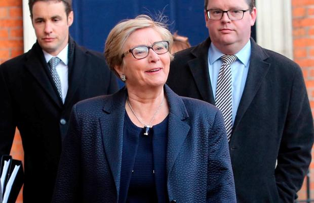 Frances Fitzgerald, T.D (former Minister for Justice and Equality) arriving at the Disclosure Tribunal in in Dublin this morning.Pic Gareth Chaney / Collins Photos