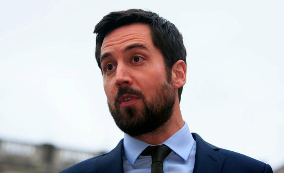 Inspections: Eoghan Murphy. Photo: Gareth Chaney, Collins