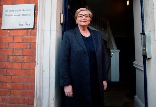 Former Minister for Justice and Equality Frances Fitzgerald TD at the Disclosures Tribunal in Dublin Castle, Dublin. Photo: Gareth Chaney, Collins