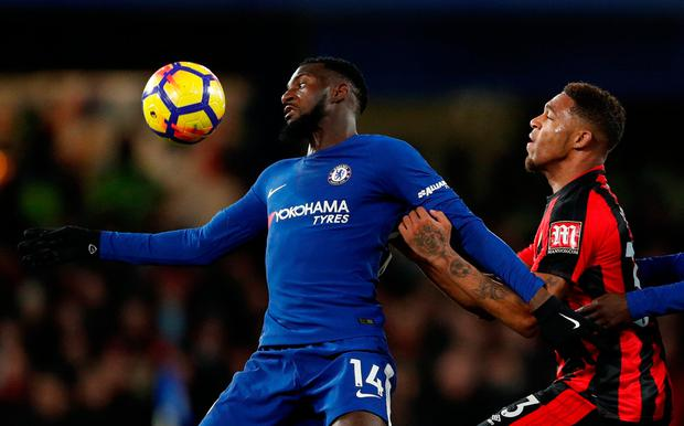 Chelsea's Tiemoue Bakayoko in action with Bournemouth's Jordon Ibe. Photo: John Sibley/Action Images via Reuters