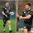 Andrew Conway (left), Luke McGrath (centre) and Joey Carbery (right).