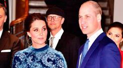 Catherine, Duchess of Cambridge and Prince William, Duke of Cambridge during a reception to celebrate Swedish culture at the Fotografiska Gallery on day two of their royal visit to Sweden and Norway on January 31, 2018 in Stockholm, Sweden. on January 31, 2018 in Stockholm, Sweden. (Photo by Dominic Lipinski - Pool/Getty Images)