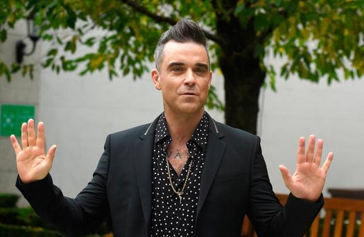 Robbie Williams at the InterContinental Dublin in 2016