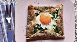 Cheese, egg and buckwheat galette by Sue Quinn. Photography © Faith Mason