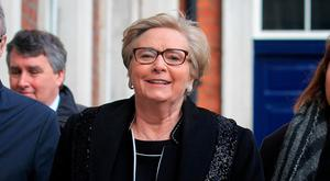 Former Minister for Justice & Equality Frances Fitzgerald TD at the Disclosures Tribunal in Dublin Castle, Dublin. Photo Gareth Chaney Collins