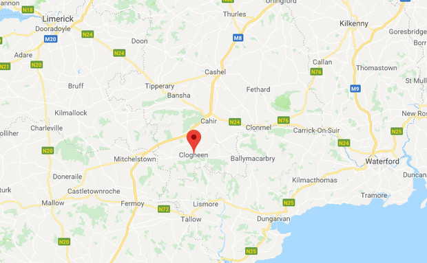 Clogheen, South Tipperary. Image: Google Maps.