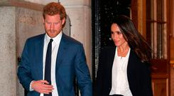 Prince Harry and Meghan Markle leave the 'Endeavour Fund Awards' Ceremony at Goldsmiths Hall on February 1, 2018 in London, England