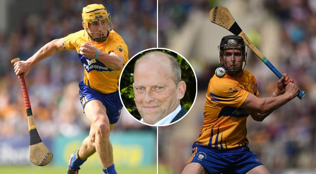 Ger Loughnane (inset) believes Colm Galvin (left) and Tony Kelly (right) can give more for Clare hurling
