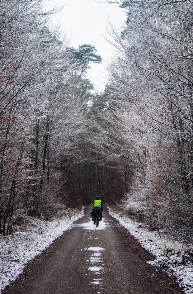 Will cycling through Germany in winter on his way home