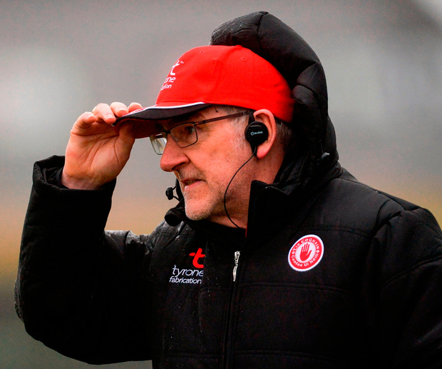Mickey Harte will get answers to some key questions in tonight's league games. Photo by Piaras Ó Mídheach/Sportsfile