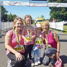 Brigid Doherty (right) after a run with daughter Sinead and grandkids Lexi and Callie