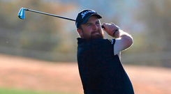 Shane Lowry hits a shot to the third hole during the second round of the Phoenix Open. Photo: Matt Sullivan/Getty Images