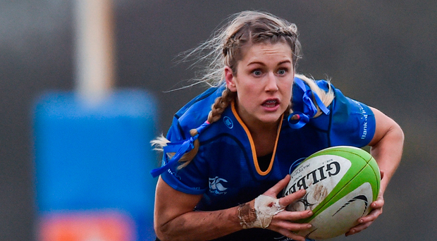 Megan Williams, in action for Leinster in December, has been drafted in from the Sevens set-up for the Six Nations campaign. Photo: Sportsfile