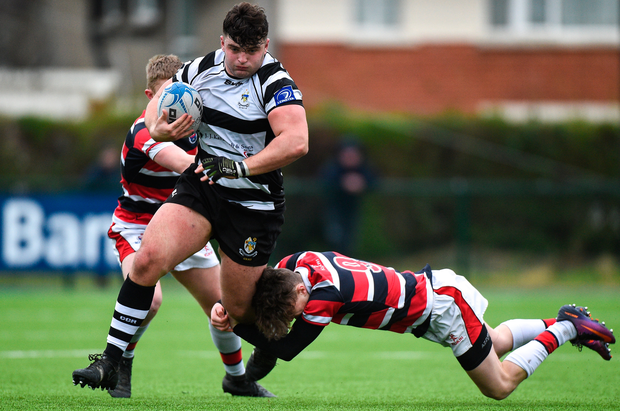 Michael Milne on the charge for Roscrea yesterday. Photo: Sportsfile