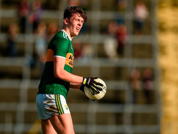 David Clifford of Kerry prepares to kick a free during the Allianz Football League Division 1 Round 1 match between Kerry and Donegal at Fitzgerald Stadium in Killarney, Co. Kerry. Photo by Diarmuid Greene/Sportsfile