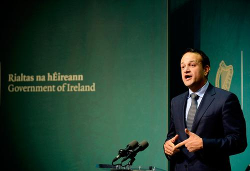Leo Varadkar has said that the first members of the new national scheme will be enrolled in 2021. Photo: Caroline Quinn