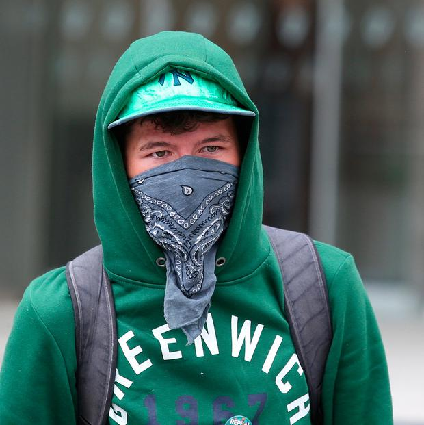 Eoin Berkeley, pictured outside Dublin district court. Picture credit; INM