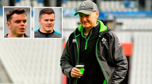 Joe Schmidt and (inset) James Ryan and Jacob Stockdale