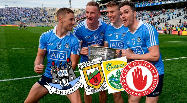 Dublin, Mayo, Kerry and Tyrone are the front runners for honours this year