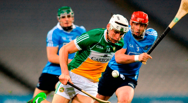 Offaly's Conor Mahon gets away from Bill O'Carroll and Tomás Connolly during last week's Allianz League opener against Dublin in Croke Park. Photo: Piaras Ó Mídheach/Sportsfile