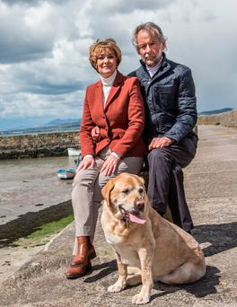 AND FINALLY: RTE newsreader Una O'Hogan, pictured with husband Colm, will bow out on February 25 after 34 years in the job. Picture: Sean Byrne