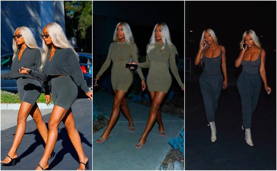 PR STUNT: A group of minor celebrities dressed in the Yeezy collection and platinum Kim wigs