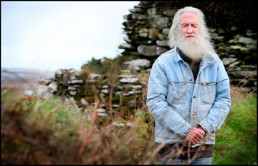 Sherkin Island resident Norman King who will be 80 in August pictured at his home. Pic Steve Humphreys