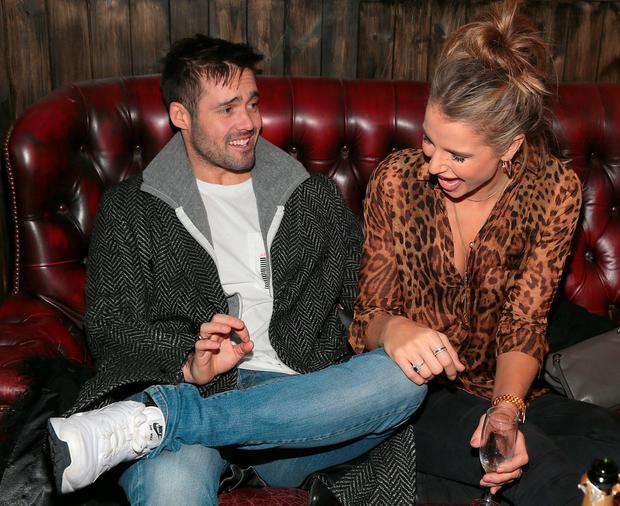 Vogue Williams and Spencer Matthews celebrated with friends prior to taking to the decks at the opening of hip nightspot R.I.O.T in Aston Quay Dublin on Saturday Night. Photo: Brian McEvoy